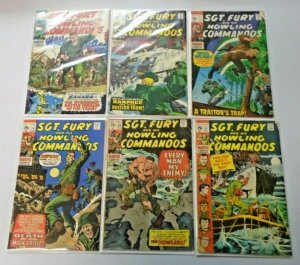 Sgt. Fury comic lot 15¢ covers from #72-87 6 Different Average 4.0 VG (1969-71)