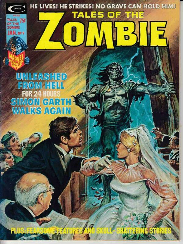 TALES OF THE ZOMBIE MAGAZINE #9 (1974) MARVEL COMICS VERY FINE (8.0) SIMON GARTH