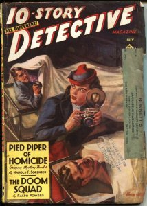 10-STORY DETECTIVE--JULY 1940-SPICY NORMAN SAUNDERS COVER-CRIME & MYSTERY PULP