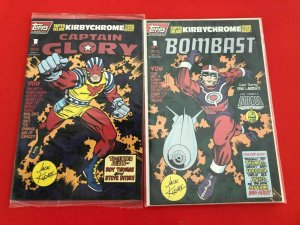 CAPTAIN GLORY / & BOMBAST ,KIRBY CHROME #'s1 TOPPS / W/CARDS / MID++ QUALITY