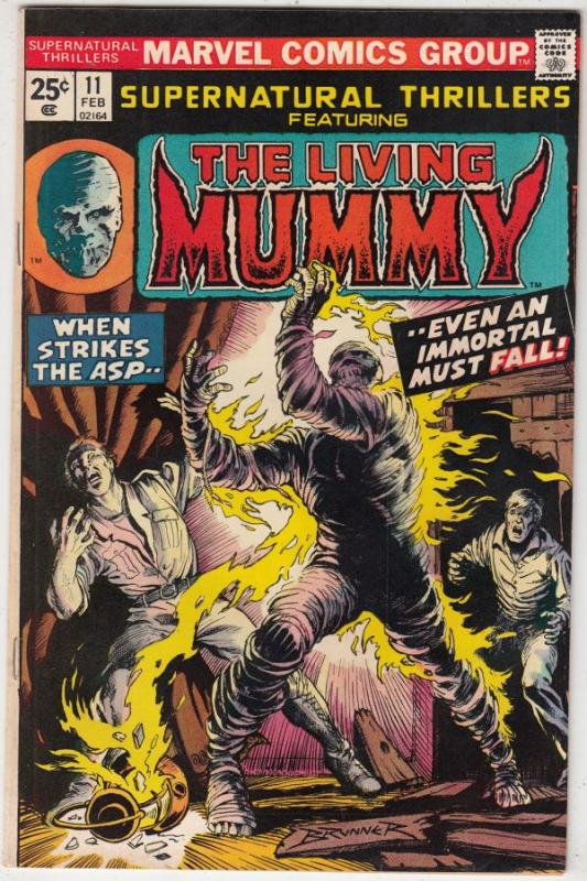 Supernatural Thrillers #11 (Feb-75) VF/NM High-Grade The Mummy