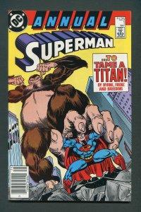 Superman Annual #1  / 9.0 VFN/NM  Newsstand  1987