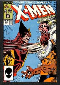 X-Men #222 FN- 5.5 Wolverine Vs. Sabretooth! Marvel Comics