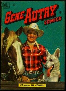 Gene Autry Comics #39 1950- Dell Western- Photo cover VG