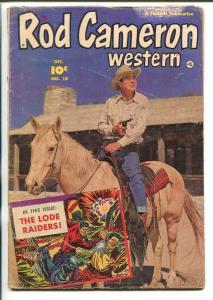 ROD CAMERON WESTERN #18 1952-FAWCETT-B-WESTERN FILM STAR-fr/good