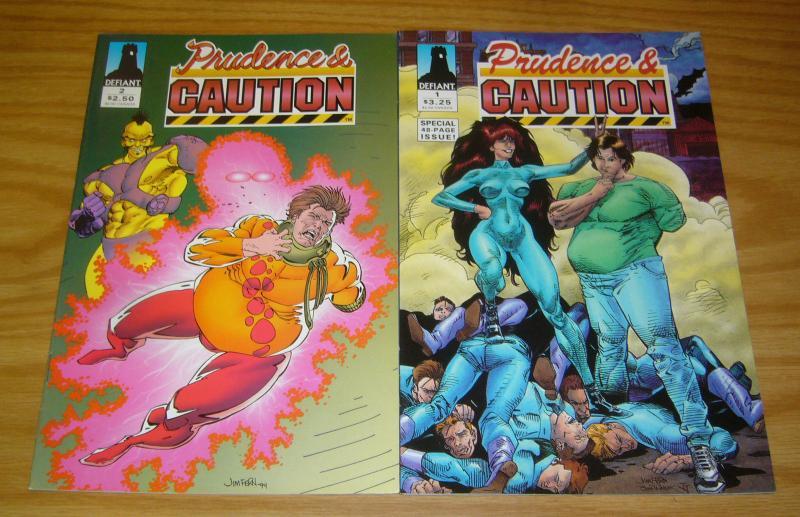 Prudence & Caution #1-2 VF/NM complete series - chris claremont - defiant comics