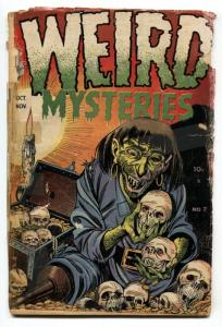 WEIRD MYSTERIES #7 1953-PRE-CODE HORROR-amputee skull comic book