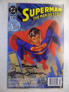 SUPERMAN MAN OF STEEL # 1 SIGNED SIMONSON AND BOGDANOVE