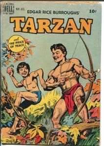 Tarzan #12 1949-Dell-last line drawn cover-Jesse Marsh interior art-VG MINUS