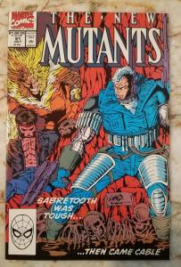 NEW MUTANTS #91, NM-, Cable, Sabretooth, Liefeld, 1983 1990 more Marvel in store