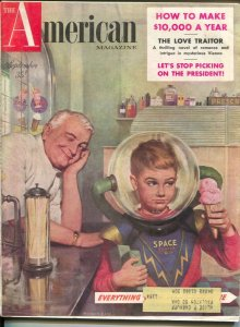 American Magazine 9/1953-Space Ranger ice cream cover--pulp fiction-classic c...