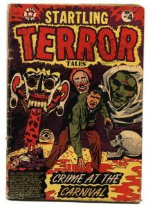 Startling Terror Tales #4-1952 L.B. COLE wild clown cover pre-code horror