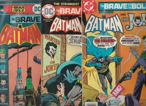 Brave and the Bold, The Joker Set #111-130-191 (Oct-78) VG/FN Affordable-Grad...