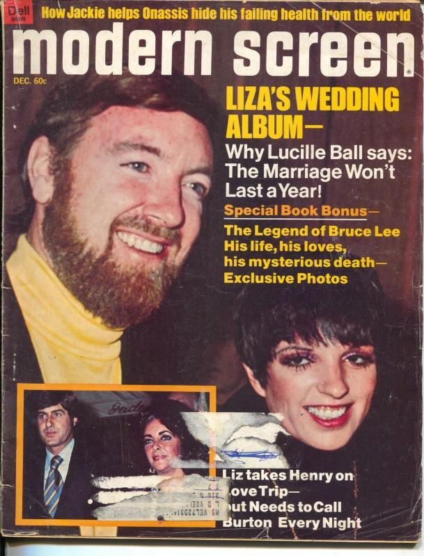 Modern Screen-Liza Minnelli-Jackie Onassis-Alan Alda-Dec-1974