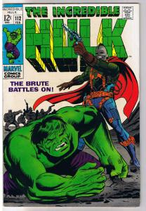 HULK #112, FN+, Bruce Banner,  Stan Lee, Herb Trimpe , 1968, Incredible
