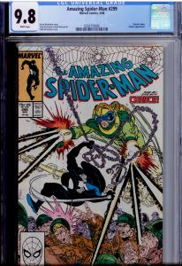 Amazing Spider-Man #299 CGC 9.8 WHITE pages 1st Venom (cameo)