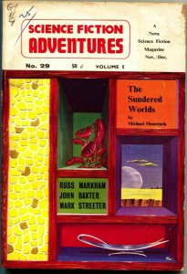 SCIENCE FICTION ADVENTURES-NOV 1962-EARLY MICHAEL MOORCOCK--PULP