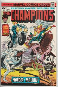 Champions, The #4 (Mar-76) NM- High-Grade Ghost Rider, Hercules, Black Widow,...