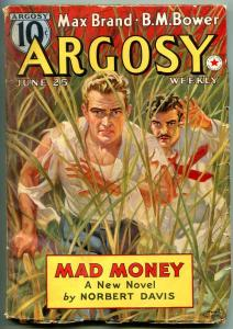 Argosy Pulp June 25 1938- Mad Money- Norbert Davis