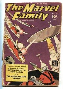 Marvel Family #47 UFO ISSUE 1950- Captain Marvel- G-