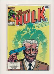 Marvel Comics Lot of 6-THE INCREDIBLE HULK  #289-294 1983 VF (PF487)