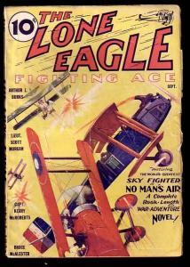 THE LONE EAGLE-SEP 1933-#1-HERO SERIES-L@@K VG