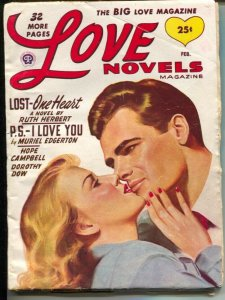 Love Novels 2/1949-pin-up girl cover-female pulp fiction authors-VG