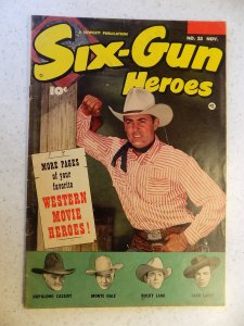 SIX-GUN HEROES # 23 GOLDEN AGE WESTERN HOPALONG LANE LARUE