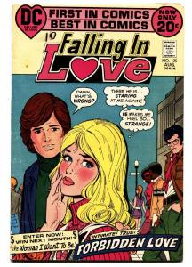 FALLING IN LOVE #135 1972-DC COMIC-Black ROMANCE CVR