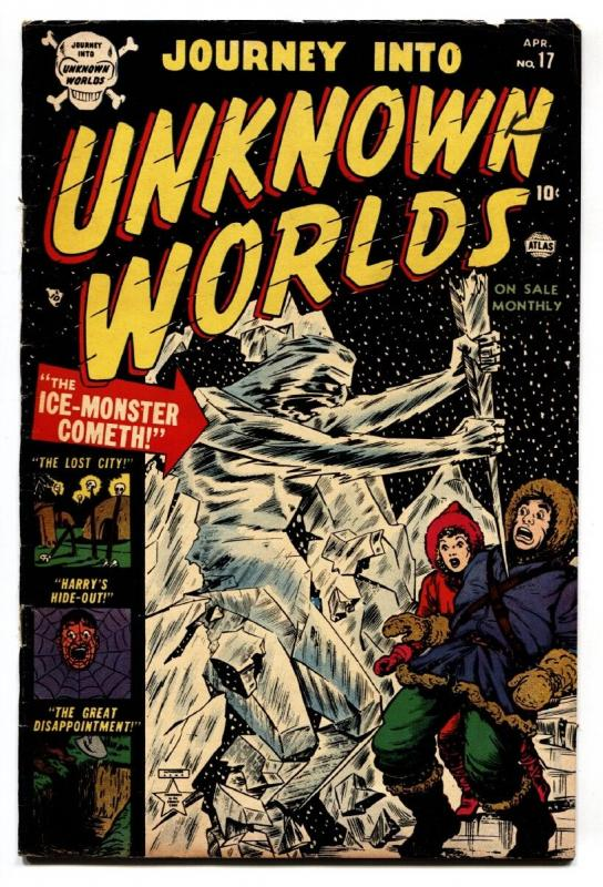 Journey Into Unknown Worlds #17 1953-Atlas-pre-code horror-Bill Everett cover
