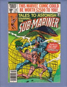 Tales To Astonish #10 VF Namor Sub-Mariner Marvel 1980