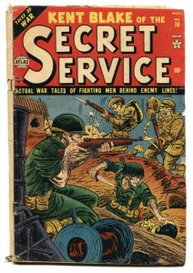 Kent Blake of The Secret Service #10 1952-Atlas-Korean war cover G