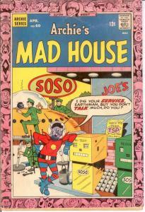 ARCHIES MADHOUSE (1959-1982)60 G-VG April 1968 COMICS BOOK
