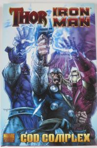 THOR, IRON MAN: GOD COMPLEX! HARDCOVER, Dan Abbnet and Andy Landing