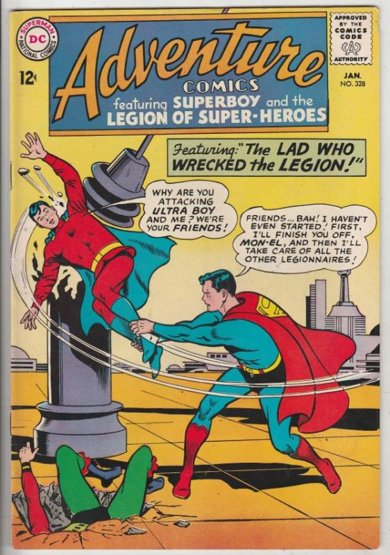 Adventure Comics #328 (Jan-65) NM- High-Grade Legion of Super-Heroes, Superboy