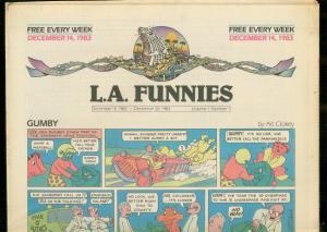L.A. FUNNIES #5 DEC 14 1983-GUMBY-HEY COACH-ZIPPY-RARE  VF