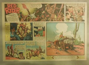 Red Ryder Sunday Page by Fred Harman from 8/27/1939 Half Page Size!