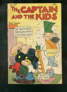 CAPTAIN AND THE KIDS #17 1949-SPANKING COVER-KATZENJAMM FR