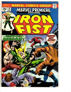 Marvel Premiere # 19 VF Feat. Iron Fist Comic Book Kung Fu 1st Colleen Wing J290