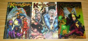 KnightShift #1-3 VF/NM complete series - london night comics - set lot 2 lyon