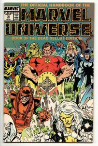 Official Handbook of the Marvel Universe #18 Deluxe Edition (1987) VF
