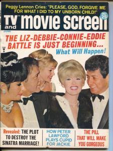 TV Movie Screen-Elizabeth Taylor-Richard Burton-Elvis Presley-June-1967