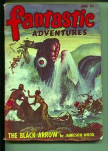 Fantastic Adventures-Pulp-6/1948-Jamieson Wood-Warren Kastel