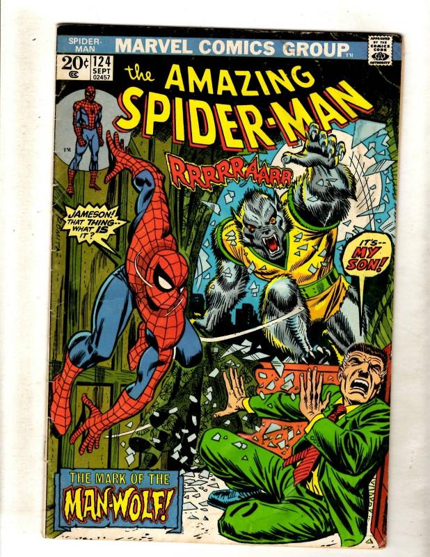 Amazing Spider-Man # 124 VG Marvel Comic Book Stan Lee Goblin Kraven Hulk FM2