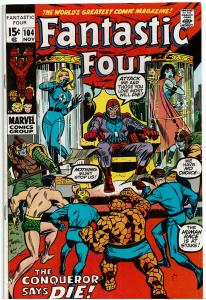 Fantastic Four #104, 4.0 or Better - Sub-Mariner and Magneto Appearance