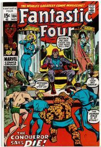 Fantastic Four #104, 4.0 or Better