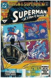 Action Comics #689 VF/NM; DC   black superman costume