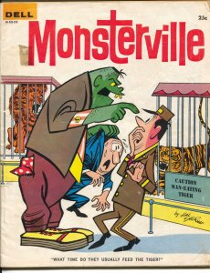 Monsterville #10 1962-Dell-comic strips-cartoons-1st issue-horror-VG