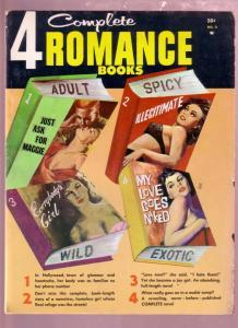 4 COMPLETE ROMANCE BOOKS-1962 EXOTIC ADULT PULP NOVELS VG