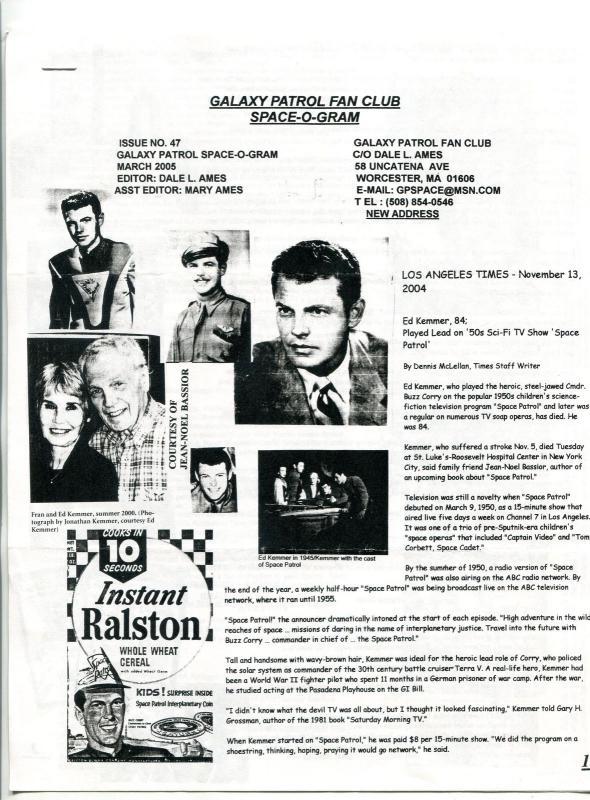 Galaxy Patrol Fan Club Space-O-Gram #47 2005- Space Opera fandom newsletter